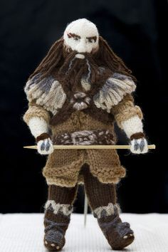 Hobbit knitted characters by Denise Salway