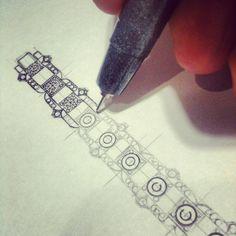 A Bracelet Design in progress #SchneiderPinterest