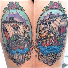 What does one piece tattoo mean? We have one piece tattoo ideas, designs, symbolism and we explain the meaning behind the tattoo. Anime Tattoos, Body Art Tattoos, Cool Tattoos, Arabic Tattoos, Sanji One Piece, One Piece Ace, Chest Piece Tattoos, Pieces Tattoo, Pirate Back Piece Tattoo