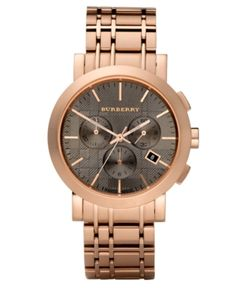 Burberry Rose gold watch...love men style watches http://rstyle.me/bguaxubu6e