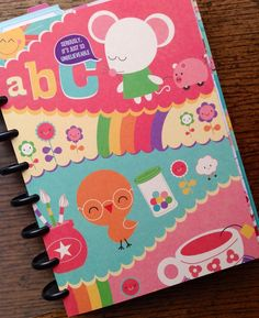 Iowajewels Collage Treasures: 2014 Arc Disc Bound Date Planner and Journal Full of Cuteness