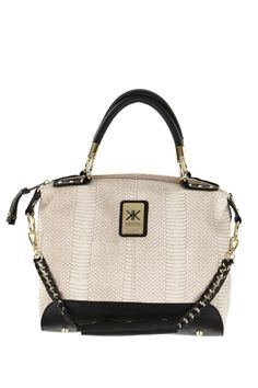 KK Cont Snake Chain Tote in #Beige / #Black - 3127300 - from Equip (AUD $99.99).