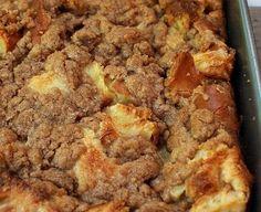 Cinnamon Strusel baked french toast