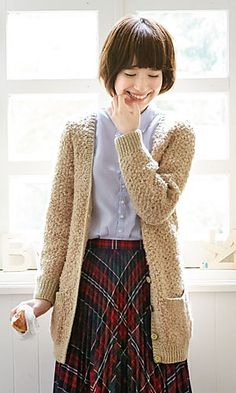 Ravelry: 214a-03 Long Cardigan pattern by Pierrot (Gosyo Co., Ltd)