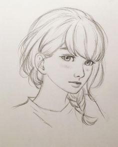Anna Bieniek — I tried to draw Fumi from Tsubaki-chou Lonely...