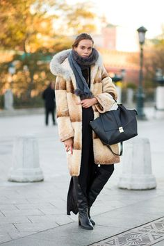Street Style: From Russia with Love...super coat + #celine on my arm