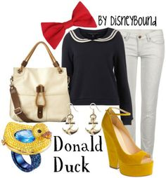 Donald duck inspired outfit :)