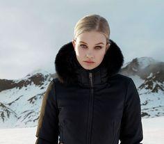 Black belted ski jacket by Goldbergh - with four way stretch and lots of warm insulation. Ski Jackets, Jackets For Women, Winter Jackets, Black Ski Jacket, Best Skis, Ski Wear, Ski Fashion, Ski Pants, Winter 2017