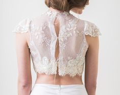 Holly 2 piece dress Crop Top Skirt Bridal by MarisolAparicio