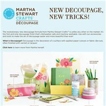 Introducing new decoupage from martha stewart crafts available at 12 martha stewart crafts decoupage formulas you can to embellish fabric glass paper wood metal and more malvernweather Image collections
