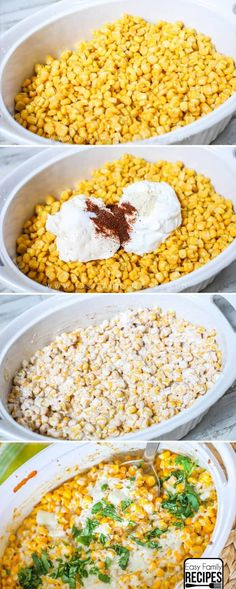 Our FAVORITE Mexican Street Corn. This casserole is rich and creamy filled with delicious flavors. Our FAVORITE Mexican Street Corn. This casserole is rich and creamy filled with delicious flavors. Side Dish Recipes, Vegetable Recipes, Vegetarian Recipes, Cooking Recipes, Healthy Recipes, Easy Mexican Food Recipes, Healthy Mexican Food, Easy Corn Recipes, Mexican Easy