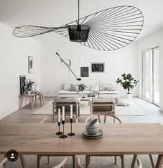 Vertigo Small by Petite Friture is a suspension lamp with an elegant and sophisticated design that once lit, projects a play of shadows on the wall. Designed by Constance Guisset Farmhouse Light Fixtures, Dining Room Light Fixtures, Living Room Lighting, Home Living Room, Living Room Designs, Living Room Decor, Home Interior, Interior Design, Casa Patio