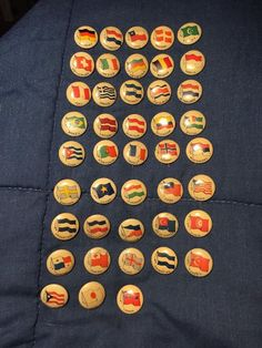 Vintage Lot 43 Country Flag Pins High Admiral Sweet Caporal Cigarette Style  | eBay