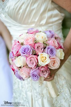 Classically sweet bouquet of pink, purple and white roses Purple Roses Wedding, Wedding Colors, Wedding Flowers, Perfect Wedding, Dream Wedding, Wedding Wows, Wedding Flower Inspiration, Wedding Ideas, Space Wedding