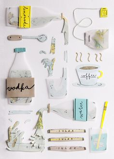 continental breakfast. on Behance