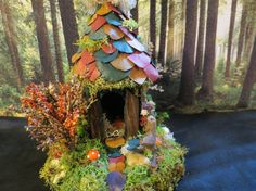 Fairy House Collectible Woodland Fairy by fairytalesnfeathers, $29.95