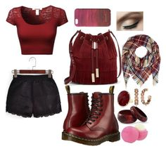 """""""Soo Much Red Soo Much"""" by puppydog28 ❤ liked on Polyvore featuring Vince Camuto, Dr. Martens, NOVICA, T Tahari, Jigsaw and Eos"""