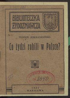 Co Żydzi robili w Polsce? – Polona Online Marketing, Poland, Books, Life, Miniatures, Historia, Literatura, Biography, Libros