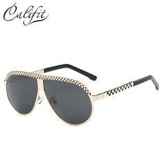 af564eb4c3 CALIFIT Metal Polarized Pilot Sunglasses Men Big Frame Oversized Brand  Design Cool Shades Male Celebrity Lunette 2018 New Oculos