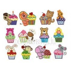 Cupcake Critters Applique