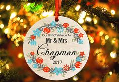 Our First Christmas as Mr & Mrs Personalized christmas tree