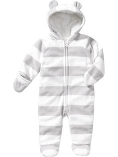 Micro Performance Fleece Hooded One-Pieces for Baby- I think we could use some good cold weather stuff. Especially if it's bad like last winter!!