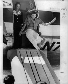 Flight Attendant Slide Exit Photo on eBay