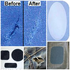 No more sewing! Iron on these denim and clear patches on any damaged garment to make them look like new again! Or reinforce clothes before they tear!