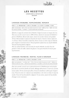 My_little_fabric_Recettes_Limonades // potential letter from the editors layout