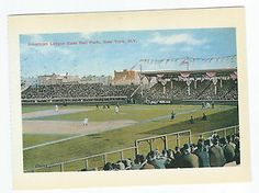 APRIL 30, 1903:  The NY Highlanders baseball team, renamed the NY Yankees ten years later, played their first home game in HIlltop Park stadium in NY.  image:  POSTCARD HILLTOP PARK NEW YORK HIGHLANDERS (YANKEES) APRIL 30, 1903
