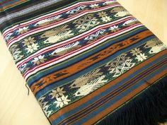 Guatemalan or Peruvian Blanket Textile Table Cloth Ethnic Boho Decor. $24.00, via Etsy.~~ Is it Guatemalan, or Peruvian?
