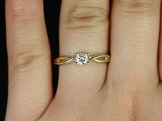 Ultra Petite Erika 3.5mm 14kt Yellow Gold Round by RosadosBox