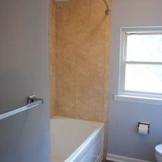 Bathroom Remodel With Polystone Tops And Vinyl Floor By Hatchett - Hatchett bathroom remodel