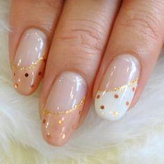 cute dot french nail
