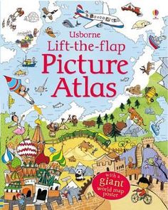 """""""Lift-the-flap picture atlas"""" at Usborne Children's Books Giant World Map, Atlas Book, World Map Poster, Future Library, Book People, Book Format, Reading Online, Childrens Books, Roman"""