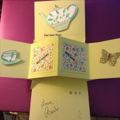Inside of pop up panel card - Get Well