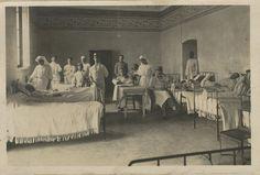Vues de la salle d'opérations de l'hôpital temporaire de Ronchamp.  Les Archives départementales de la Haute-Saône | Mission Centenaire 14-18