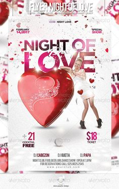 Flyer Night of Love Party — Photoshop PSD #flyer template #psd • Available here → https://graphicriver.net/item/flyer-night-of-love-party/6531791?ref=pxcr