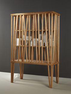 Aparador de madeira com portas MIKADO by Porro design FRONT