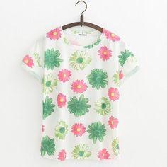 JKKUCOCO Orchid Flowers Print Women t shirt Short Sleeve Summer t-shirt Hot Tops tee Women Cotton T-shirt 21 Models