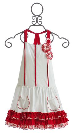 Isobella and Chloe Red and White Girls Dress $49.00