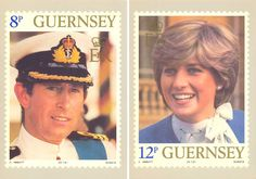 Guernsey Stamps with Charles and Diana, July 29, 1981