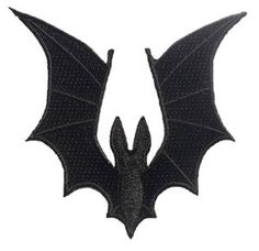 """Bat Wing Embroidered Patch 8cm X 8.5cm (3 1/4"""" X 3 1/2"""") Approx"""
