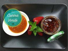 Chilisaucen - Getrocknet oder Frisch - Rezept von Joes Cucina Verde Chili Dip, Chili Sauce, Tortilla, Caviar, Dips, Pudding, Meat, Desserts, Food