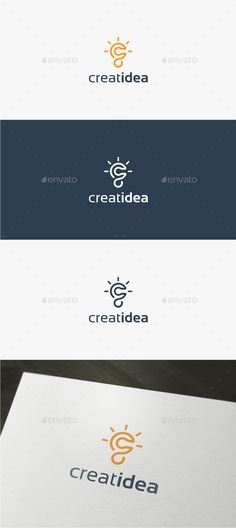 Creative Idea Logo Template — Vector EPS #c letter #brainstorm • Available here → https://graphicriver.net/item/creative-idea-logo-template/15007728?ref=pxcr