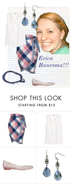"""""""Erica Buursma!!!"""" by rossvanderh ❤ liked on Polyvore featuring Komodo, H&M, Melissa and Pearls For Girls"""