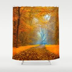 LEAVES OF THE SUNLIGHT Shower Curtain