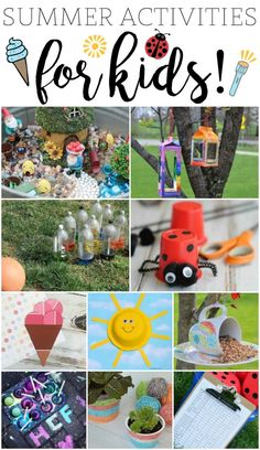 Fun Summer Activities for Kids! SO MANY FUN IDEAS on this list!!