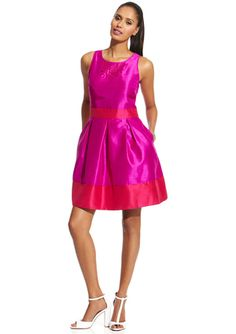 love the pop of pink and red. M60 Miss Sixty Laser Cutout Sleeveless Dress $59.99