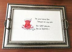 Etamin çay Tepsisi Cross Stitch, Frame, Picture Frame, Punto De Cruz, Seed Stitch, Cross Stitches, Frames, Crossstitch, Punto Croce